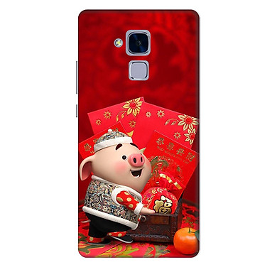 Ốp lưng nhựa cứng nhám dành cho Huawei GR5 Mini in hình Heo Con Lì xì