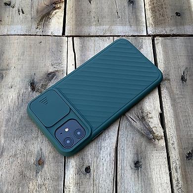Ốp lưng kéo nắp camera cao cấp dành cho iPhone 11 - Màu Xanh