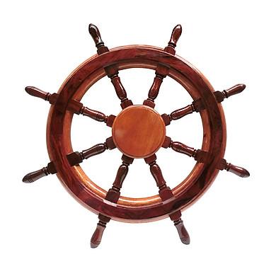 Vô lăng tàu gỗ trang trí Ø50cm (không đồng hồ)
