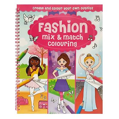 Sách tô màu Mix & Match Colouring Fashion