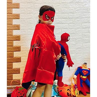 Bộ áo choàng kèm mặt nạ người nhện hoá trang halloween