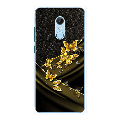 Ốp lưng dành cho Xiaomi Redmi Note 5 (Redmi 5 Plus) - Bướm Vàng Nền Kim Tuyến