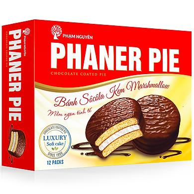 Bánh Chocolate Kem Marshmallow Phaner Pie Hộp 336g