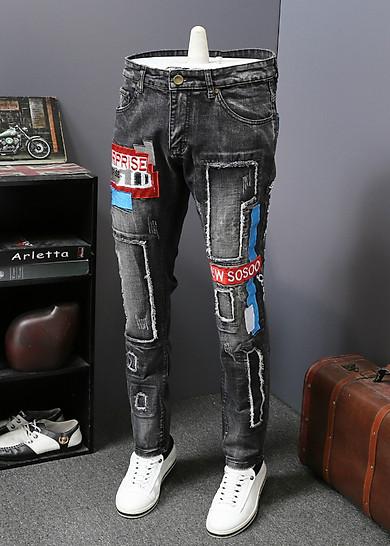 Quần jeans nam chắp vá surprise Mã: ND1158