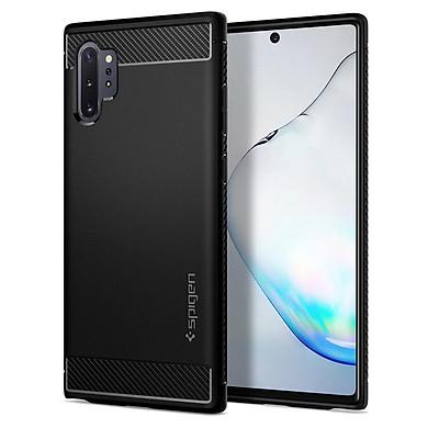 Ốp lưng chống sốc Spigen Rugged Armor màu đen cho Galaxy Note 10 series - Hàng nhập khẩu