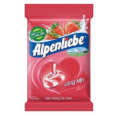 Kẹo Alpenliebe Hương Dâu Kem (Gói 40 Viên)
