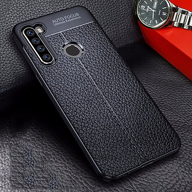 Ốp lưng dành cho Xiaomi Redmi Note 8 silicon giả da chính hãng Auto Focus