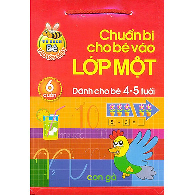 Chuẩn bị cho bé vào lớp môt ( Bộ 6 cuốn) - Dành cho bé 4 -5 tuổi