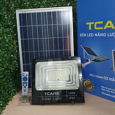 Đèn Led Năng lượng mặt trời Tcare 100W - Hàng Chính Hãng