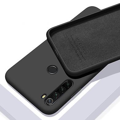 Ốp lưng Cho Xiaomi Redmi Note 8 nhựa TPU dẻo màu, mặt trong vải nhung My Choice