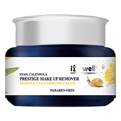 Kem Tẩy Trang Mát Xa Dưỡng Sáng Da It's Well Plus Snail Calendula Prestige Make Up Remover Cleansing Oil Cream CPOC (100ml)