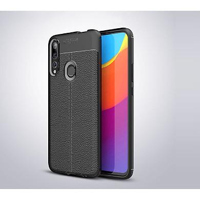 Ốp lưng Silicon Auto Focus giả da, chống sốc dành cho Huawei Y9 Prime 2019 - Hàng Chính Hãng