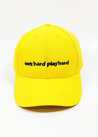 Nón kết/ Mũ lưỡi trai kaki nam nữ Work hard Play hard NON0235V Lorganic