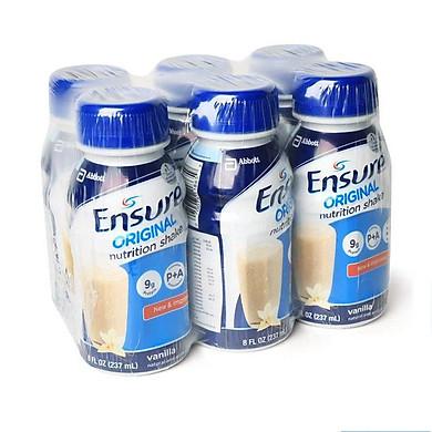 Sữa Bột Pha Sẵn Abbott Ensure Original Nutrition Shake Hương Vani Lốc (6 Chai x 237ml)