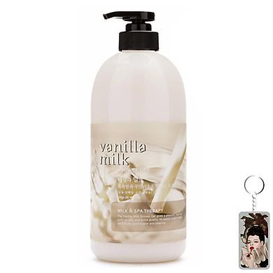 Sữa tắm massage hương sữa vani Welcos Body Phren Shower Gel 740ml + Móc khóa