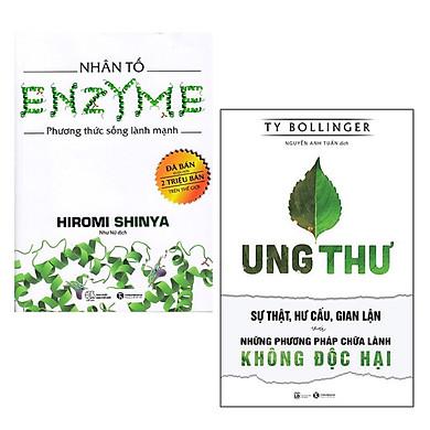 Combo 2 Cuốn Sách Cực Hay Cho Bạn Sống Khỏe: Nhân Tố Enzyme - Phương Thức Sống Lành Mạnh (Tái Bản 2018) + Ung Thư - Sự Thật, Hư Cấu, Gian Lận Và Những Phương Pháp Chữa Lành Không Độc Hại / Tặng Kèm Bookmark Happy Life