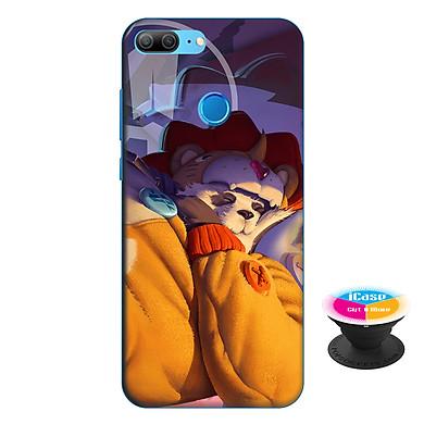Ốp lưng nhựa dẻo dành cho Honor 9 Lite in hình Zuka Gấu Nhồi Bông - Tặng Popsocket in logo iCase - Hàng Chính Hãng