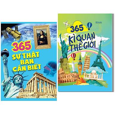 Combo Sách 365 Sự Thật Bạn Cần Biết +  365 Kì Quan Thế Giới
