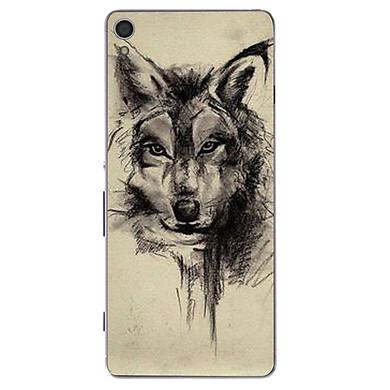 Ốp lưng điện thoại Sony Xperia XA1 Plus - Đôi mắt sói MS DMSD004 - Hàng Chính Hãng