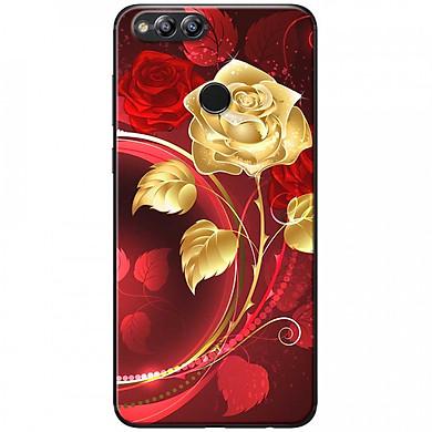 Ốp lưng  dành cho Honor 7X mẫu Bình hoa hồng