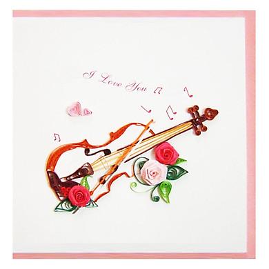 Thiệp Giấy Xoắn GX Love Việt Net VN2NN115S63E2 (15 x 15 cm)