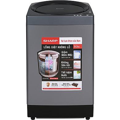 Máy Giặt Cửa Trên Sharp ES-W95HV-S (9.5kg) – Hàng Chính Hãng – Chỉ giao tại Hà Nội