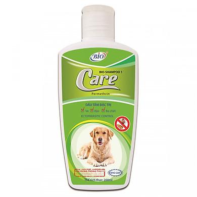 Dầu tắm trị bọ chét ve ghẻ cho chó - Biocare 200ml