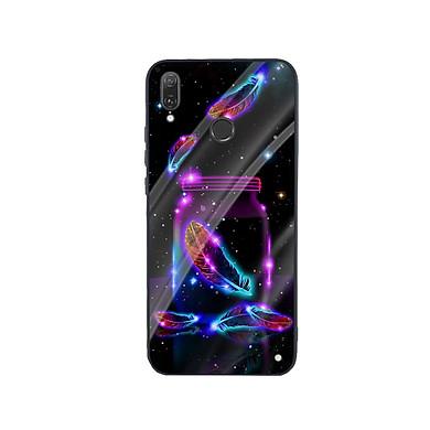 Ốp Lưng Kính Cường Lực cho điện thoại Huawei Y9 2019 - Lông Vũ 03