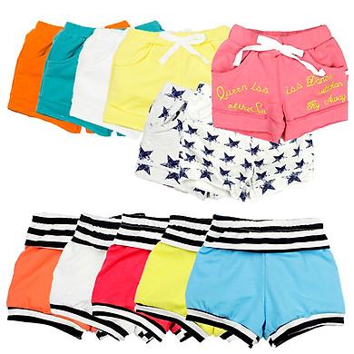 Combo 3 quần thun cotton short mặc nhà (3 cái màu khác nhau) cho bé từ 10 đến 24 kg 04270-04163