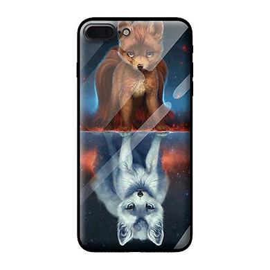 Ốp kính cường lực cho iPhone 8 Plus mẫu sói 2 - Hàng chính hãng