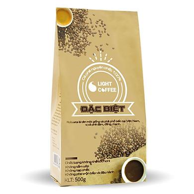 Cà phê rang xay Đặc biệt Light coffee vị đậm, đắng mạnh – 500g