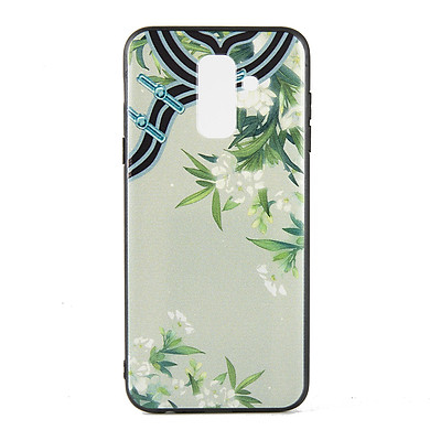 Ốp lưng Samsung A6 plus / J8 2018 Diên Hi - Lá trúc - Hàng chính hãng