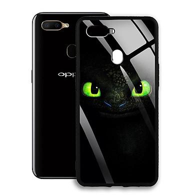 Ốp Lưng Kính Cường Lực cho Oppo A5S - 0356 - 7803 TOOTHLESS01 -  Hàng Chính Hãng