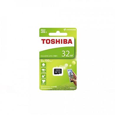 Thẻ nhớ MicroSDHC Toshiba M203 UHS-I U1 32GB 100MB/s (Đen) - Hàng chính hãng