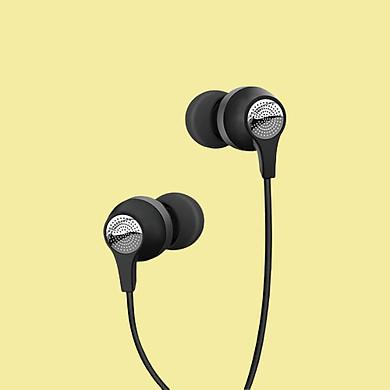 [[ Màng Loa Graphene - KÈM VIDEO ]] - Tai nghe nhét tai có dây Jack cắm 3.5mm Robot | Cho iOS/Apple (iPhone/iPad), Android (Samsung, Sony, Xiaomi, Huawei, Oppo, LG) - Màu Đen - RE101 - Hàng Chính Hãng