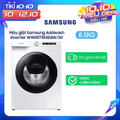 Máy giặt Samsung Addwash Inverter 8.5kg WW85T554DAW/SV – Chỉ giao Hà Nội
