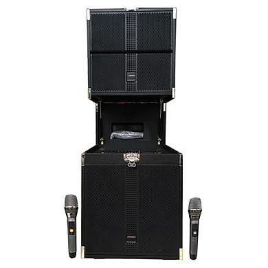 Loa kẹo kéo karaoke bluetooth Sansui SG9-15 - Hàng nhập khẩu
