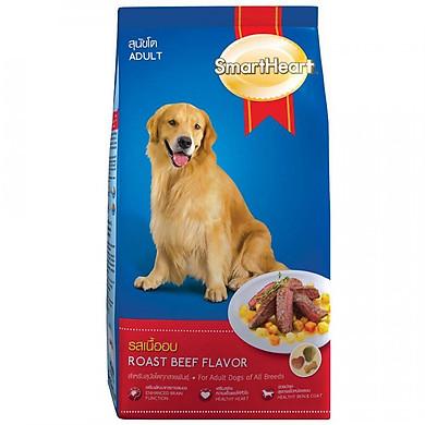 Đồ Ăn Cho Chó Trưởng Thành SmartHeart Hương Vị Thịt Bò Nướng (1.5kg)  - Giao Ngẫu Nhiên