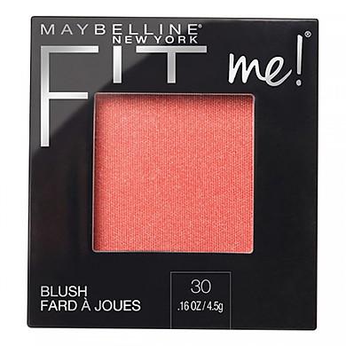 Phấn Má Hồng Mịn Lì Chuẩn Màu Maybelline Fit Me Blush - Màu 30 Rose 4,5g