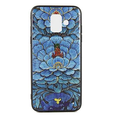 Ốp lưng cho Samsung A6 / J6 2018 Diên Hi - Hoa Xanh - Hàng chính hãng