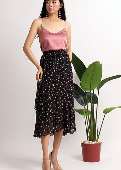Chân váy maxi hoa VD42140