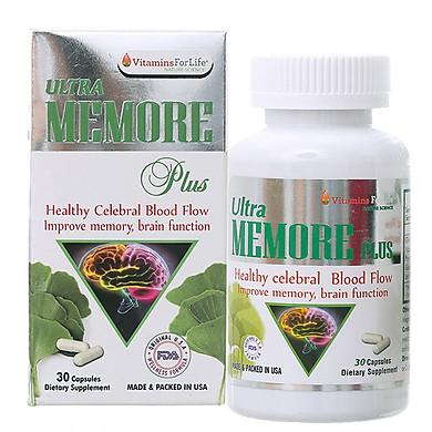 Thực phẩm chức năng Mỹ Memore Plus bổ não, tăng trí nhớ (30 viên) | KBM01
