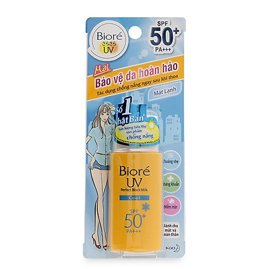 Sữa chống nắng Biore UV Perfect Protect Milk Cool SPF50+/PA+++ -25ml