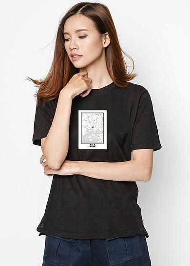 Áo Thun Nữ In Hình Map Love Oslo SuviT68081741 - Đen