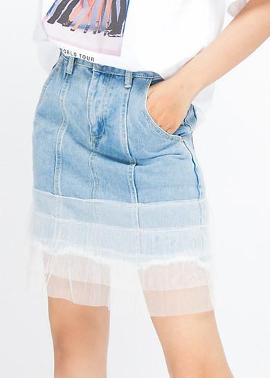 CV Jeans phối lưới
