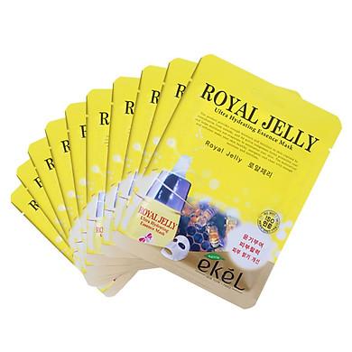 Combo 10 Miếng Mặt Nạ Dưỡng Da Sữa Ong Chúa Ekel Royal Jelly Ultra Hydrating Essence Mask (25ml x 10)
