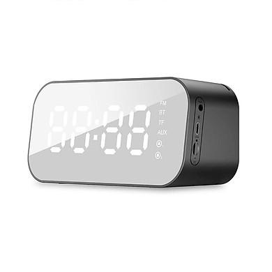Loa Bluetooth Mặt Gương Kiêm Đồng Hồ Báo Thức HAVIT M3 PLUS (Nghe nhạc USB, thẻ TF, Kết nối Bluetooth 4.2, AUX 3.5 Nghe FM, Báo thức, nhiệt độ) - Hàng chính hãng