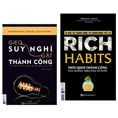 Combo 2 Cuốn Sách : Rich Habits - Thói Quen Thành Công Của Những Triệu Phú Tự Thân + Gieo Suy Nghĩ Gặt Thành Công - Tự Tạo Phép Màu Cho Thành Công Của Bạn - ( 2 Cuốn Sách Tạo Lập Thói Quen Để Thành Công ) - (Tặng Kèm Bookmark Thiết Kế AHA)