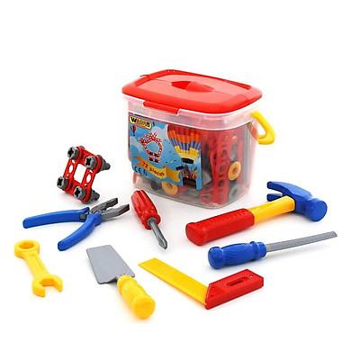 Hộp đồ chơi dụng cụ kỹ thuật 72 chi tiết - Polesie Toys