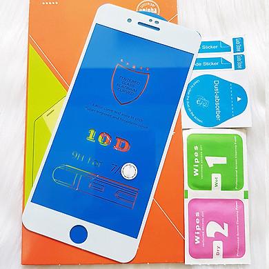 Kính Cường lực 10D Dành Cho IPHONE 7 PLUS - 8 PLUS Full Keo Màn Hình - Màu Trắng